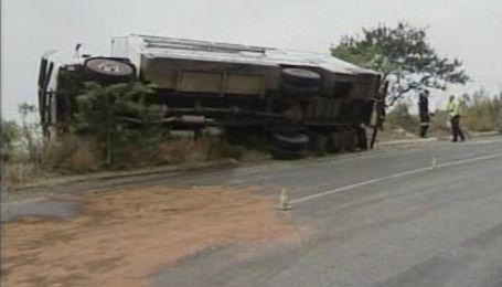 Накануне ЧМ по футболу в ЮАР разбился автобус с иностранцами