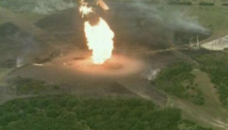 В Техасе произошел мощный взрыв на газопроводе
