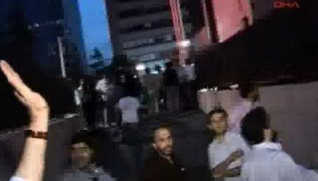 Посольство Израиля в Стамбуле забросали камнями