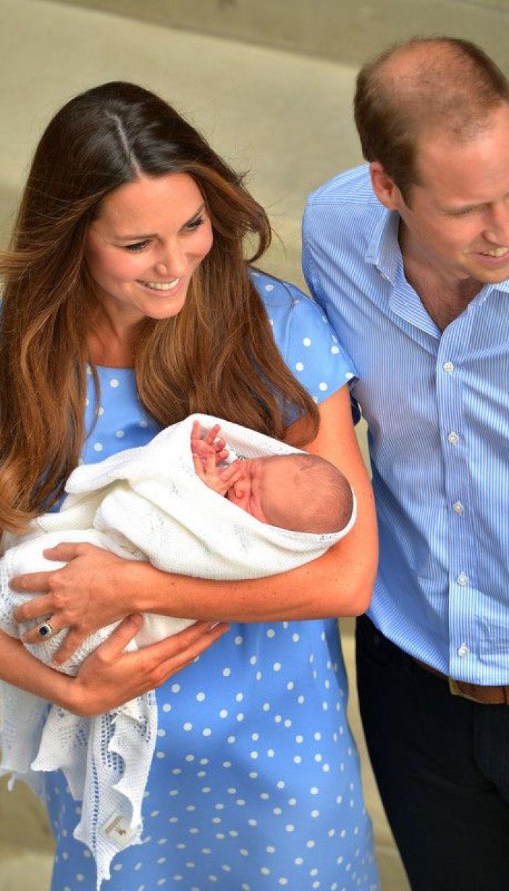 Герцогиня Кэтрин, принц Уильям и их сын Георг Александр Луи @ EPA/UPG