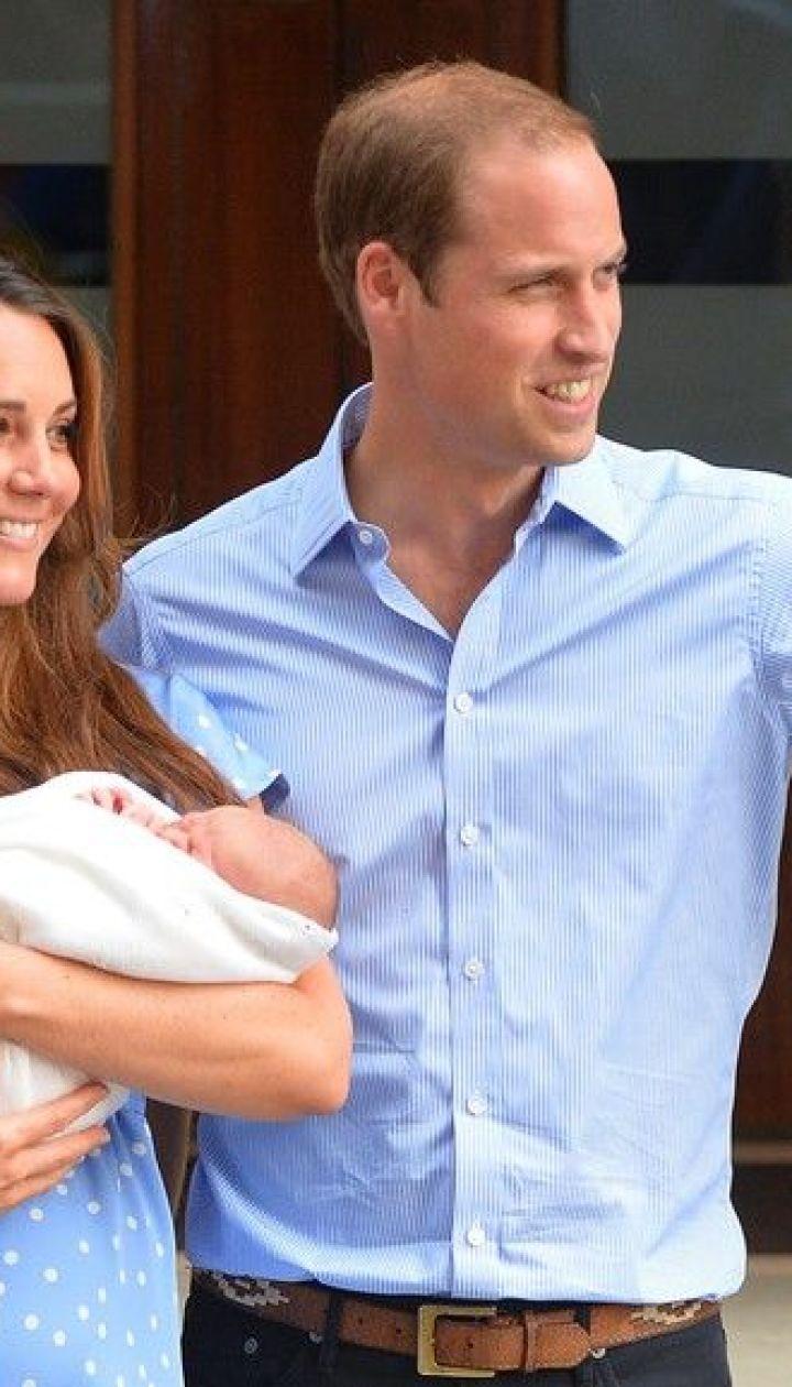 Герцогиня Кэтрин, принц Уильям и их сын Георг Александр Луи @ East News