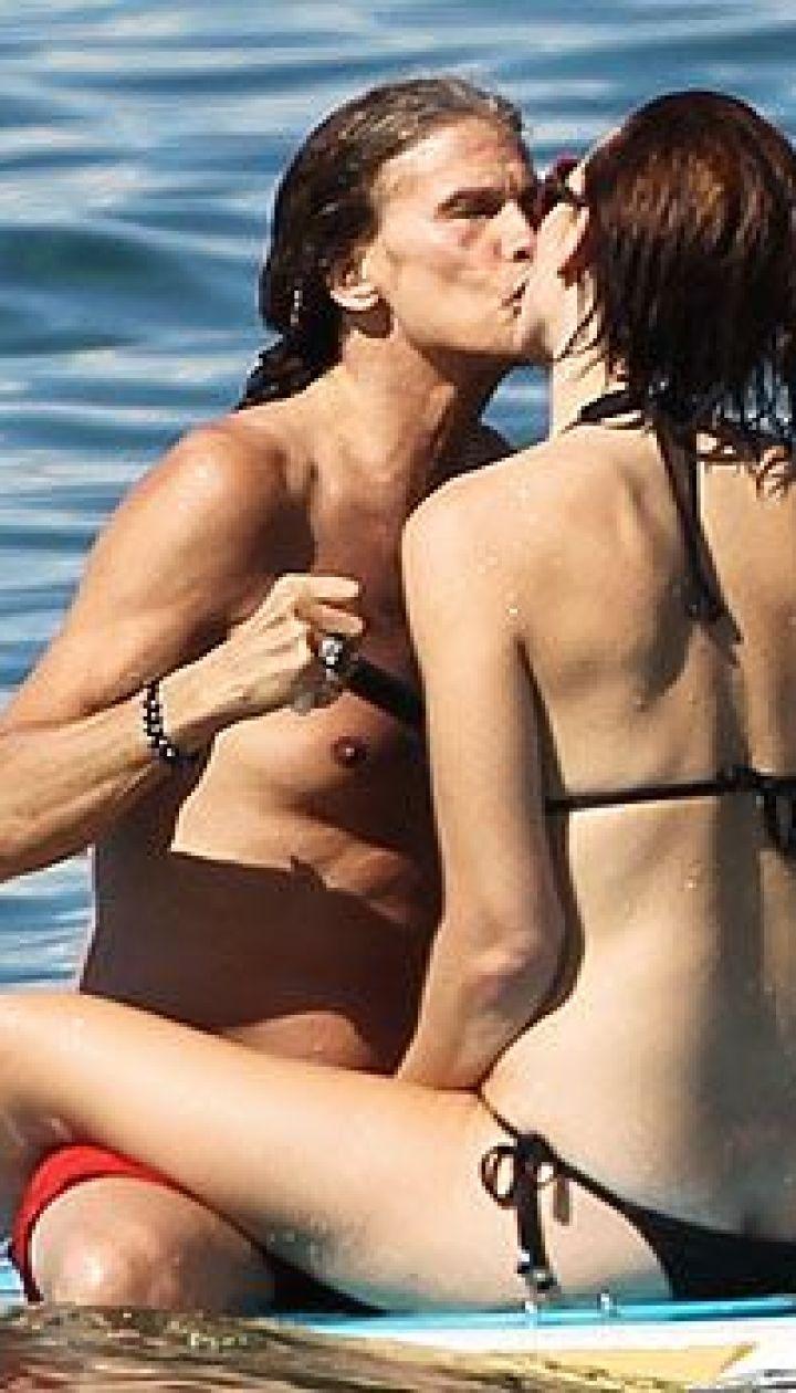 Стивен Тайлер с подругой Эрин Брэди