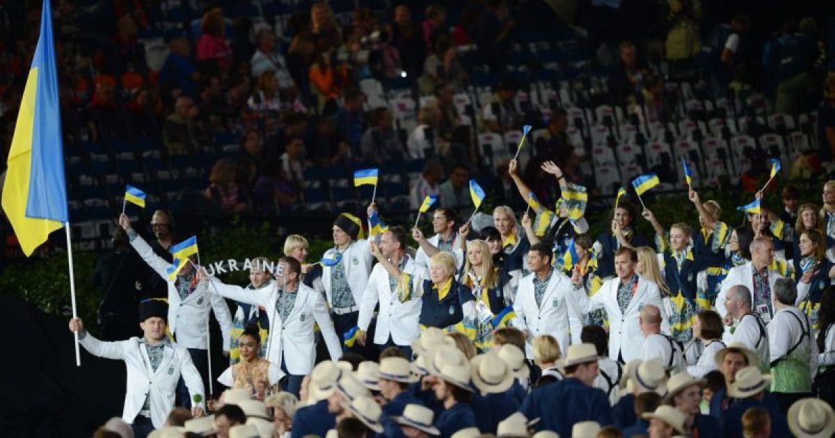Вихід нашої збірної на олімпійському стадіоні в день відкриття Ігор-2012 @ НОК України