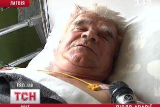 Українському тренеру в ДТП у Латвії переламало ледь не всі кістки