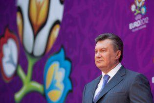 Янукович подякував збірній України за характер на Євро-2012