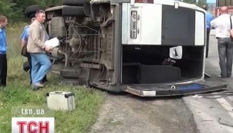Столкновение маршрутки и грузовика в Запорожье