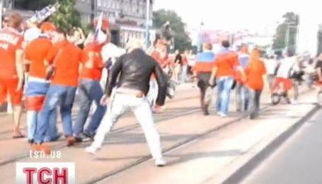 Задержание болельщиков в Польше