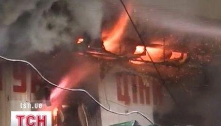 Масштабный пожар в Ровно