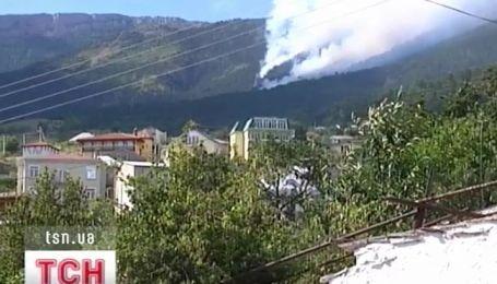 Вторые сутки в Крыму горит Ялтинский заповедник
