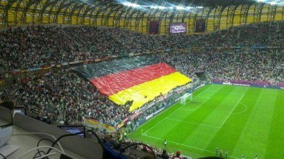 Величезний прапор збірної Німеччини