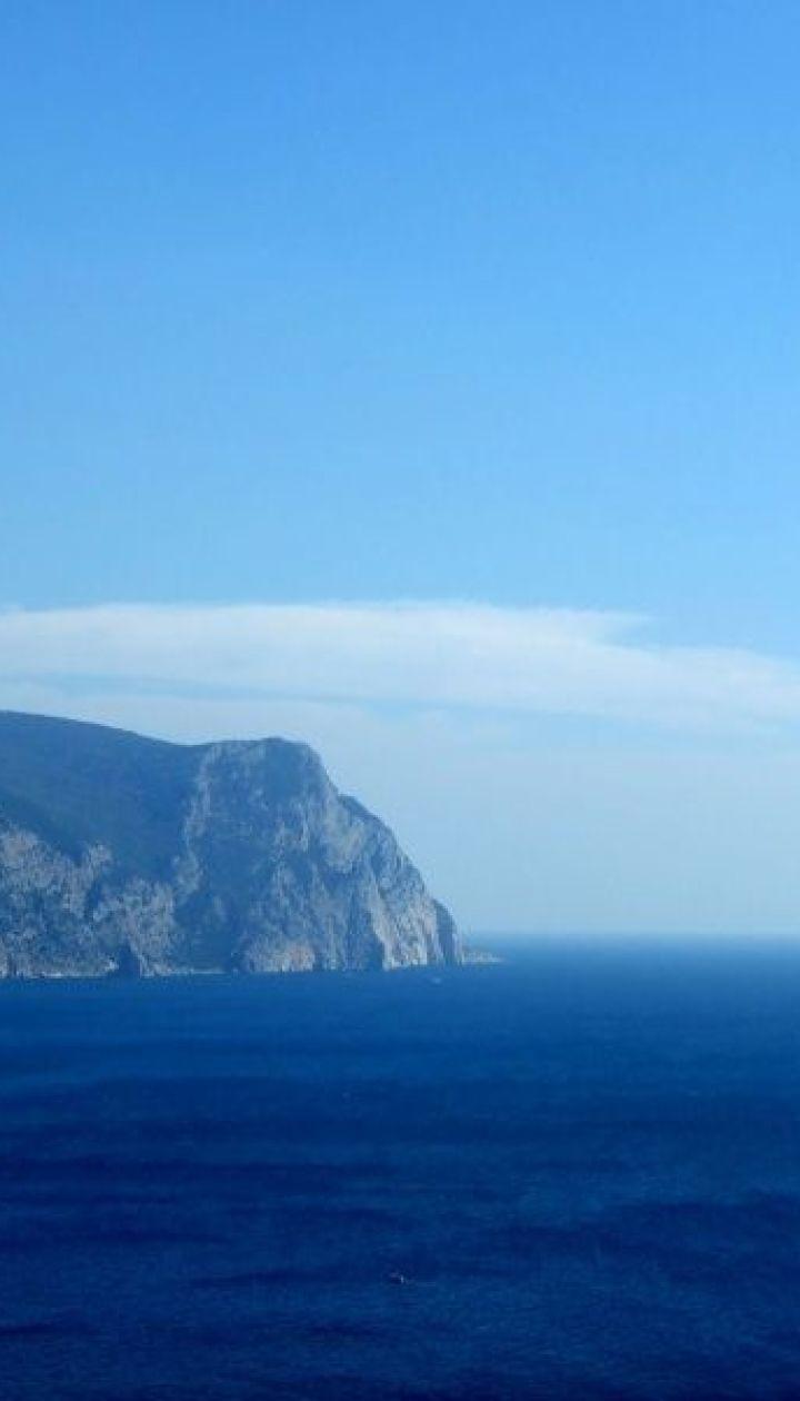 Вид на открытое море с Крепостной горы