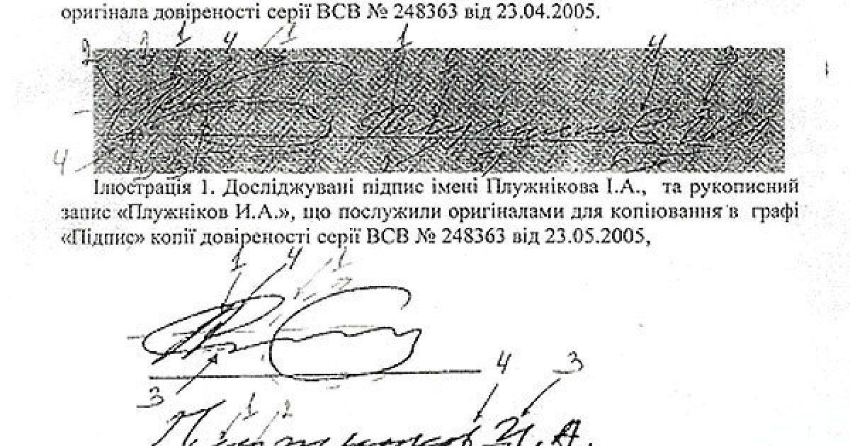 Вывод эксперта о поддельной подписи Плужникова. Часть 4 @ Дзеркало тижня. Україна