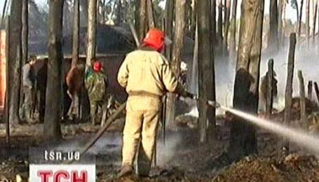 На Чернігівщині спалили село