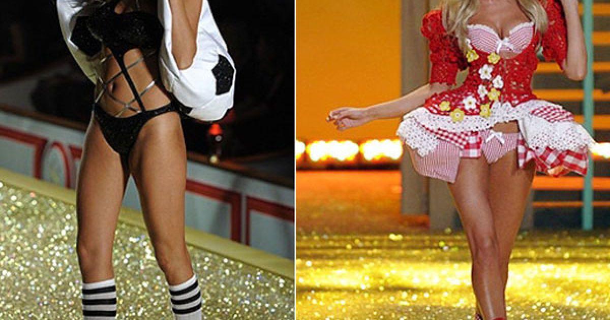 Беаті Прінслу і Кендіс Свейнпоуел на шоу Victoria's Secret @ AFP