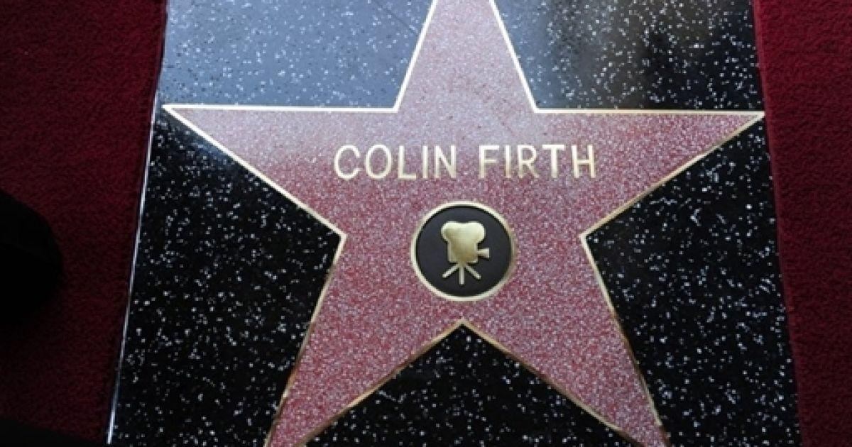 Колін Ферт під час відкриття зірки на Алеї Слави @ AFP