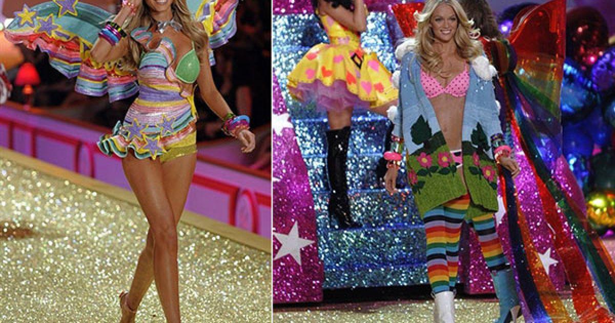 Марина Лінчук і Ліндсі Еллінгтон на шоу Victoria's Secret @ AFP