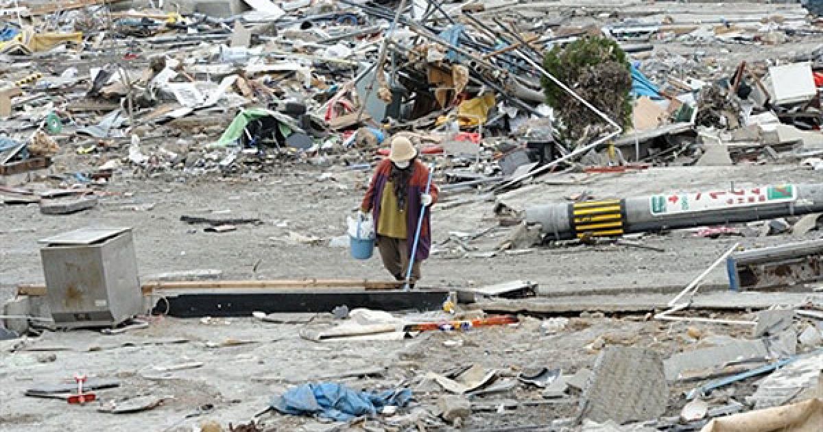 Руйнівний землетрус 11 березня викликав на східному узбережжі Японії 10-метрові хвилі цунамі. @ AFP