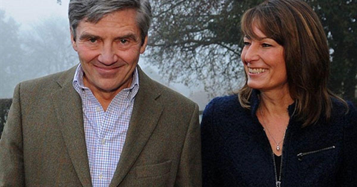 Батьки Кейт Міддлтон Майкл Френсіс Міддлтон і Керол Елізабет Міддлтон @ AFP