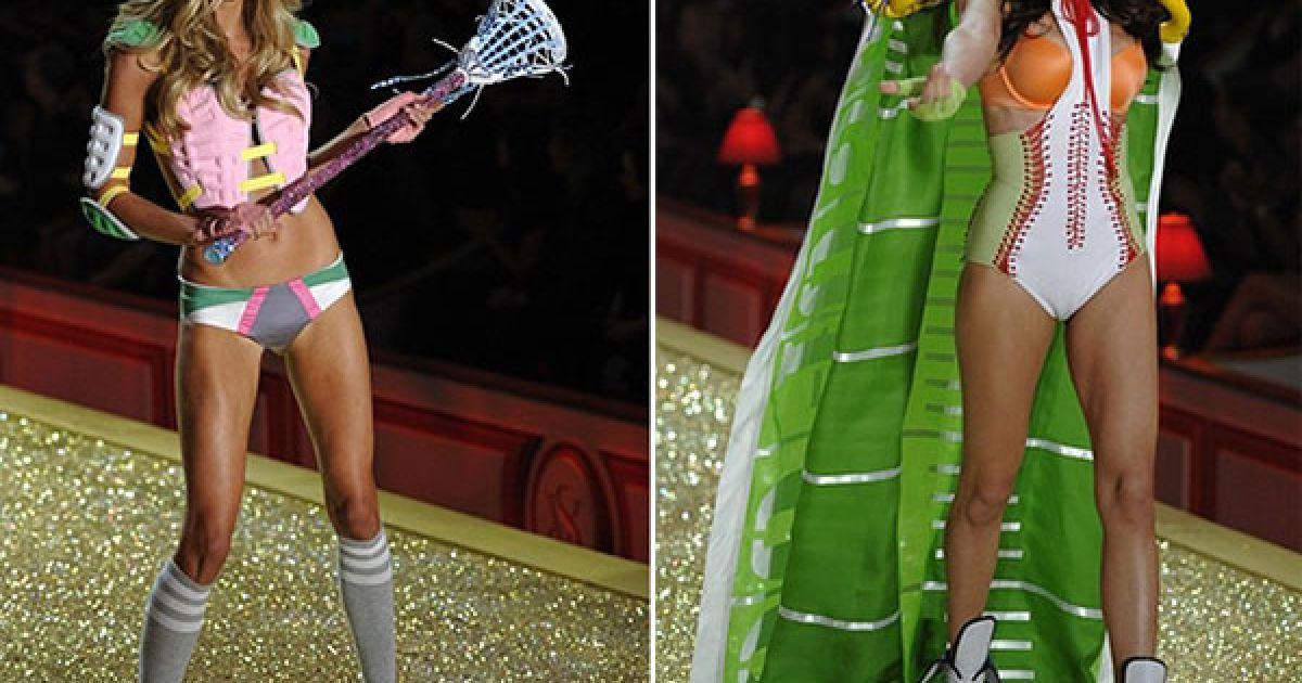 Шеннен Клік і Адріана Ліма на шоу Victoria's Secret @ AFP