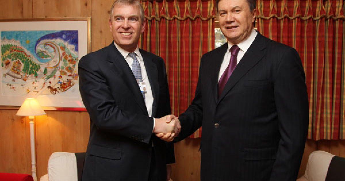 Віктор Янукович у зустрівся із принцем Ендрю, Герцогом Йоркським, Спеціальним Представником Великої Британії з питань міжнародної торгівлі та інвестицій. @ President.gov.ua