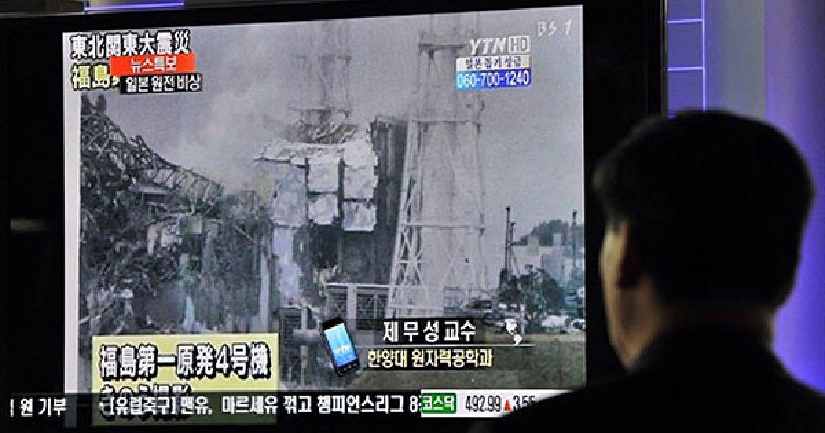 """Через вибухи водню і пожежі на четвертому блоці АЕС """"Фукусіма-1"""" стався витік радіації. @ AFP"""