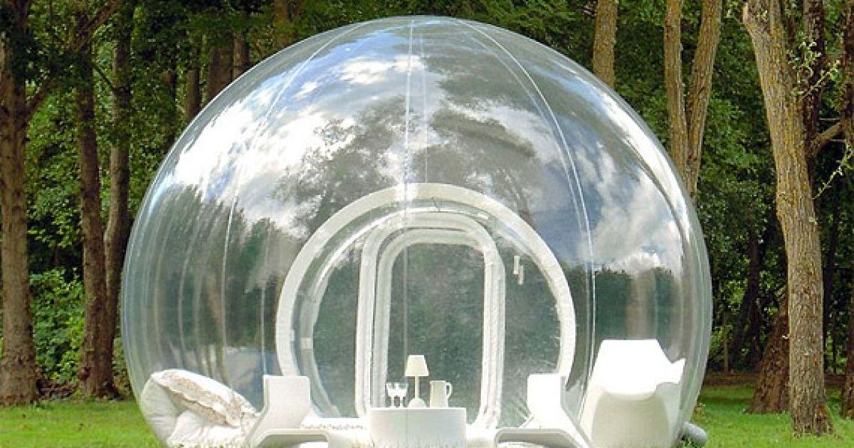 Прозорий намет Bubble Tree @ thebubbletree.com