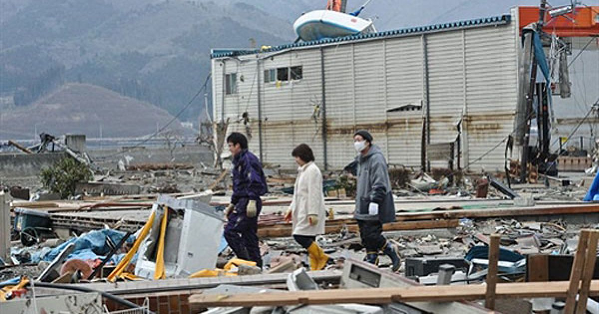 """Землетрус в Японії уже охрестили """"апокаліпсисом"""". @ AFP"""