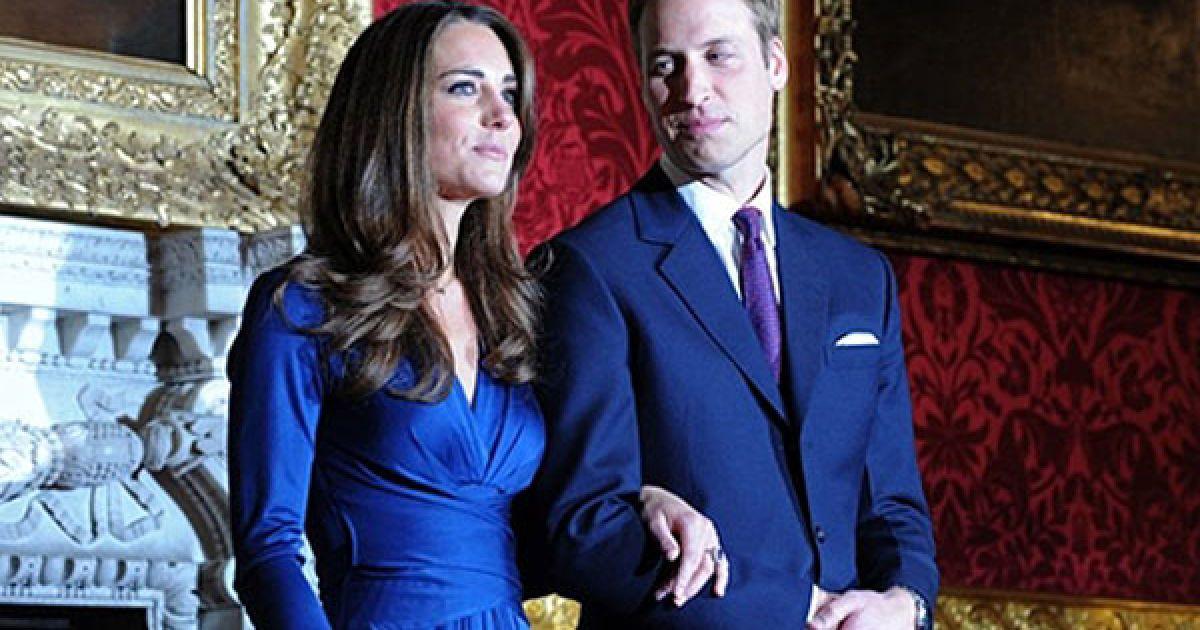 Як йдеться в заяві королівської сім'ї, принц Вільям зробив пропозицію своїй давній подрузі Кейт Міддлтон у жовтні під час відпочинку в Кенії. @ AFP