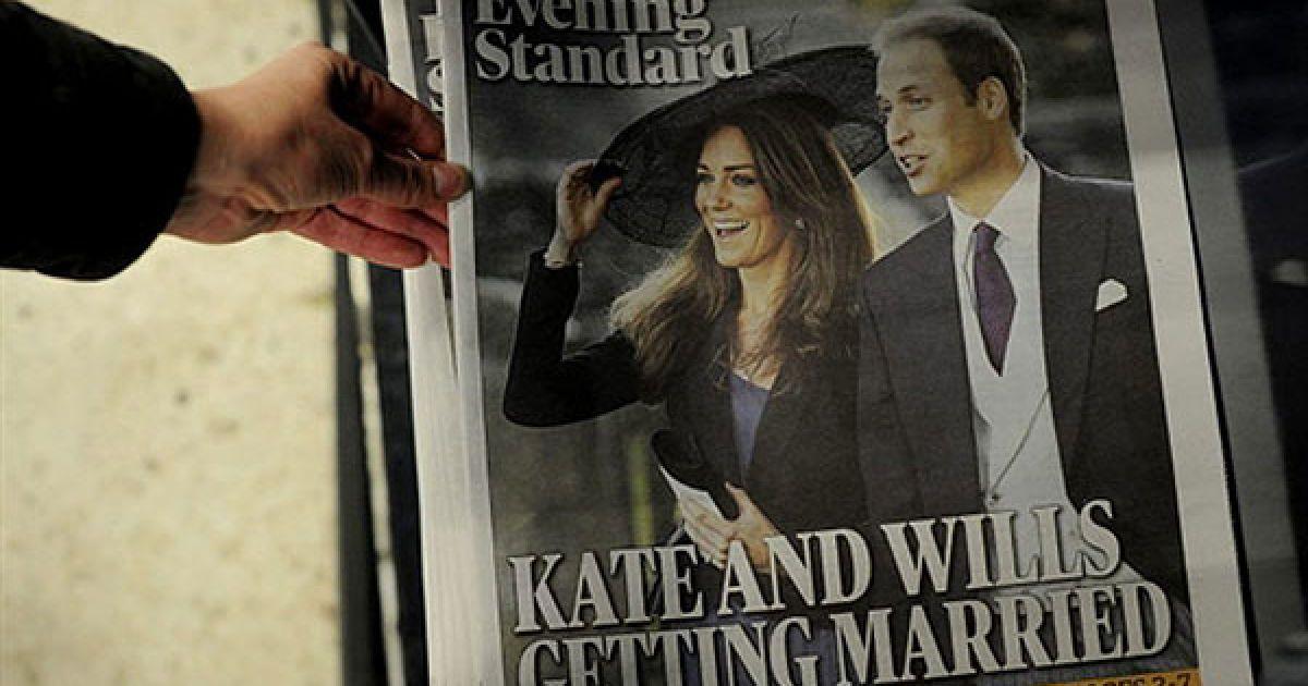 Деякі букмекерські контори у Великобританії почали приймати ставки на дату торжества. @ AFP