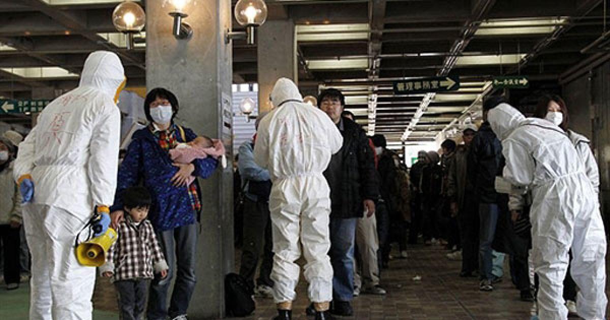"""У районі """"Фукусіма-1"""" вже зафіксовано кілька десятків випадків радіаційного опромінення. @ AFP"""
