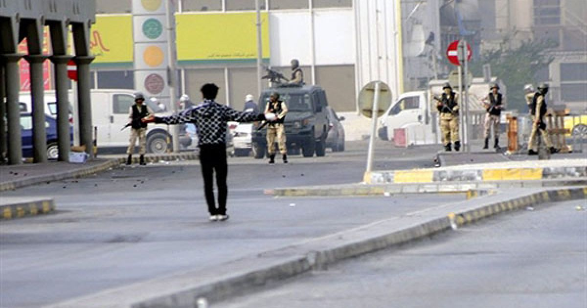 Сотні поліцейських розігнали маніфестантів у столиці Бахрейну Манамі. @ AFP