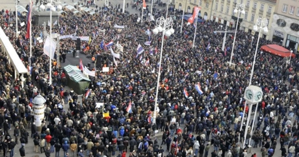 Протести в Хорватії @ AFP
