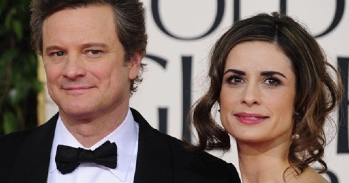 Колін Ферт з дружиною @ AFP