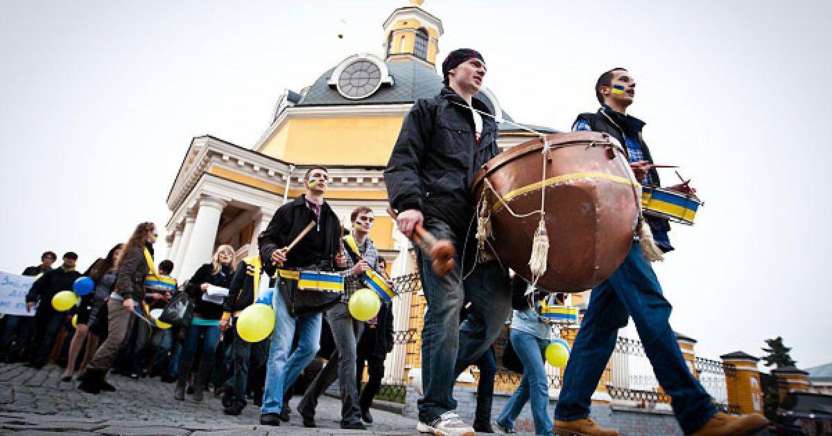 З Банкової учасники акції ходою вирушили до Майдану Незалежності @ Украинское Фото