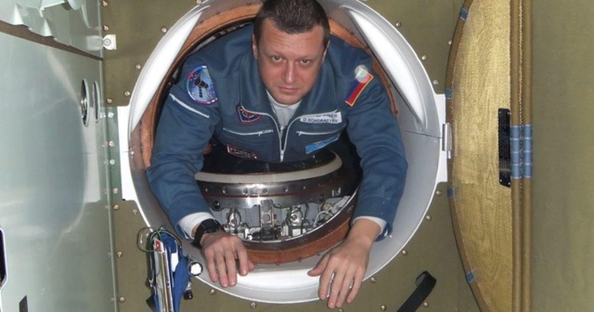 """На орбіту Кондратьєв, який очолював екіпаж """"Союзу ТМА-20"""", відправився на орбіту вперше. @ roscosmos.ru"""