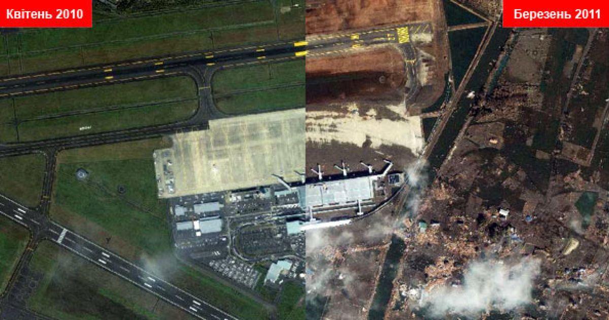 Аеропорт Сендай @ GeoEye