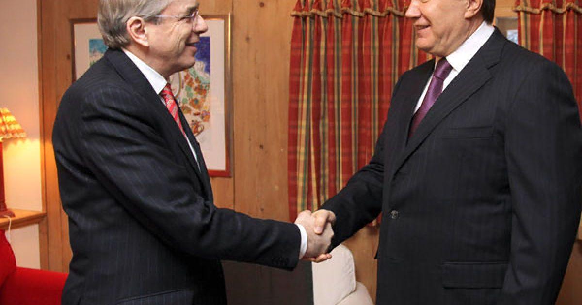 Віктор Янукович зустрівся у Давосі з Президентом ЄБРР Томасом Міровим @ President.gov.ua