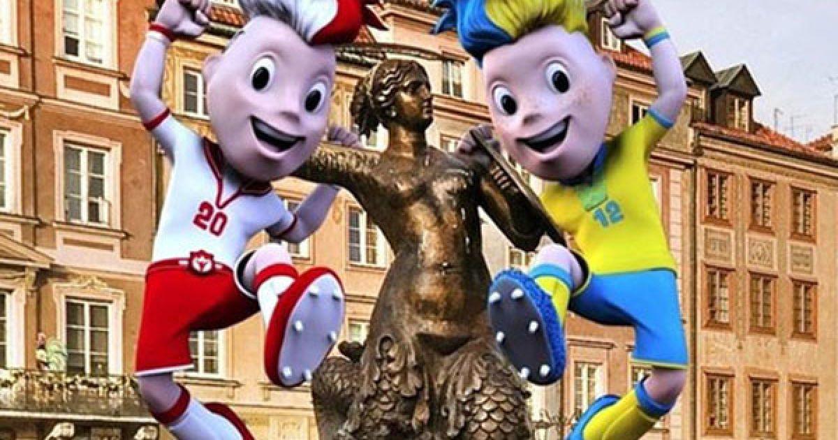 Талісманами Євро-2012 стали футболісти-близнюки @ ukraine2012.gov.ua
