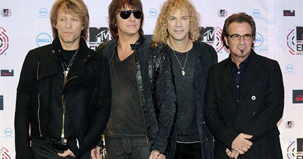 """Володарями почесної нагороди """"Всесвітня ікона MTV"""" стала група Bon Jovi. @ AFP"""