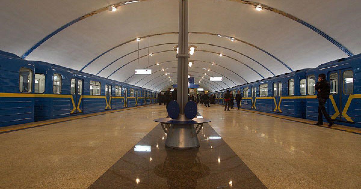 Строительство станций метро на этом участке начали шесть лет назад. Станции оснащены гранитом, мрамором и керамическими плитками. @ Украинское фото