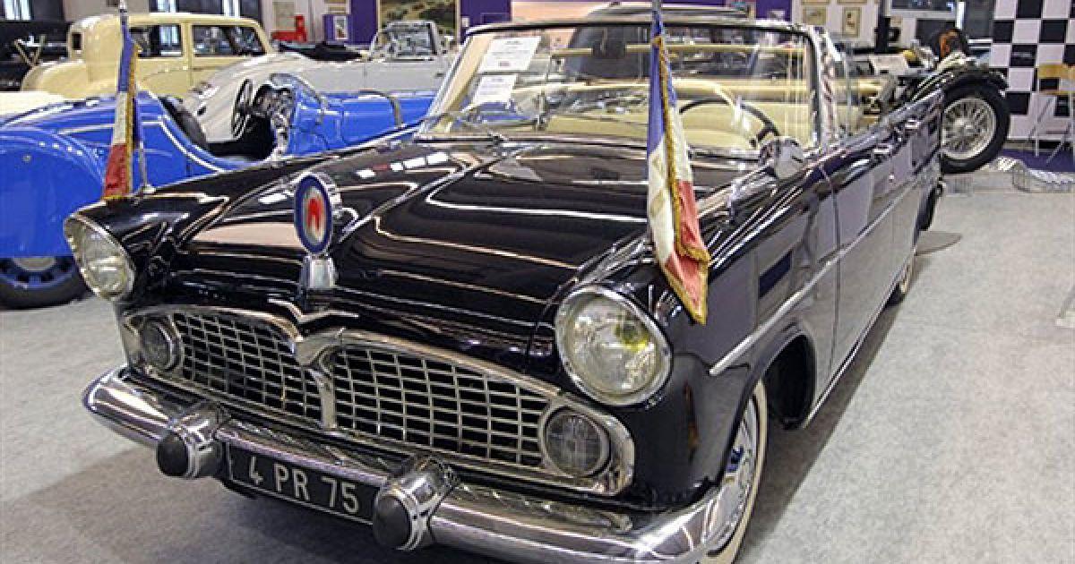 Simca, 1959 року, який належав колишньому президенту Франції Шарлю де Голлю. @ AFP
