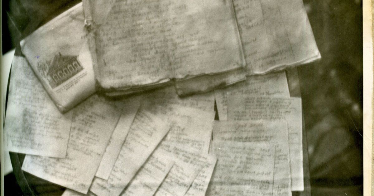 Вещи, изъятые у В. Чорновола при аресте. Архив СБУ.