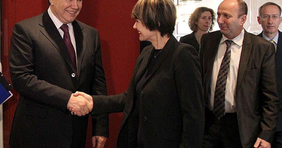 У Давосі відбулася зустріч Віктора Януковича з Федеральним президентом Швейцарії Мішлен Кальмі-Рей @ President.gov.ua