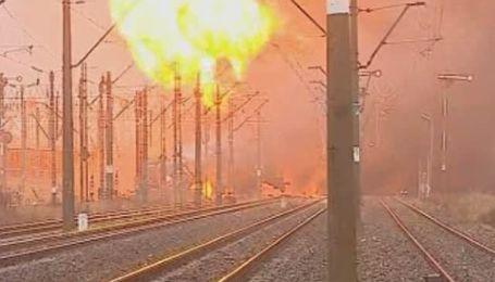 В Польше загорелся поезд с бензином и дизельным топливом