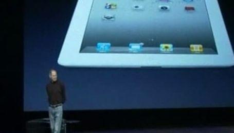 Стив Джобс презентовал новый планшет iPad-2