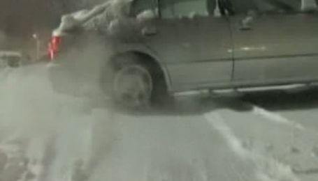 Мощные снегопады в США