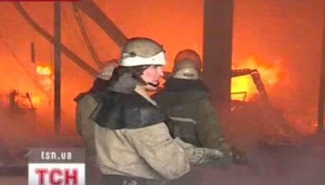 Большой пожар в Запорожье