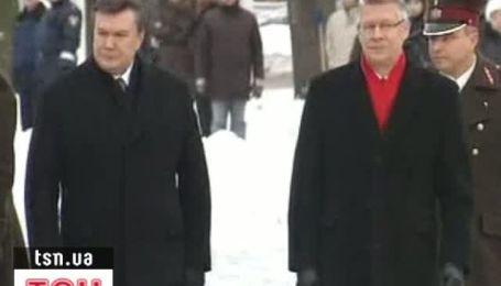 Янукович с официальным визитом в Латвии
