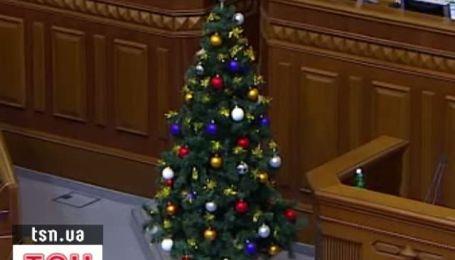 Верховную раду подготовили к Новому году
