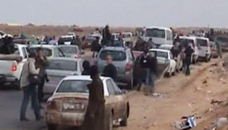 Танкисты Каддафи разгромили повстанцев